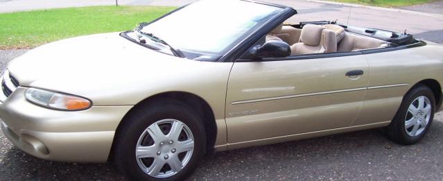 Make Model Chrysler Sebring Jx Convertible Color Gold Metallic Year 1998 Price 3500 City Brooklyn Park County Sherburne State Minnesota