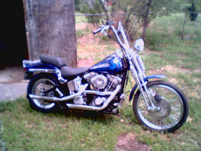 Phone 719 650 7146 MakeModel Harley Davidson FXSTS Springer Softail And Many Extra NEW Parts SELL BY 7 26 Color Blue Year 1992 Mileage Price 9000