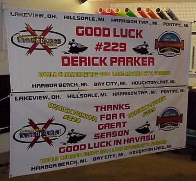 sample banners vinyl graphics lettering