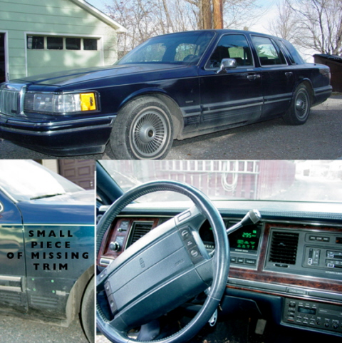 91 lincoln town car signature for sale. Black Bedroom Furniture Sets. Home Design Ideas